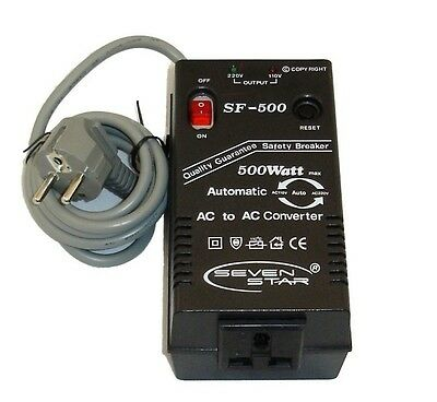 Voltage Converter Step Up / Down 500W Automatic 110V 220V For Use In Usa & Uk