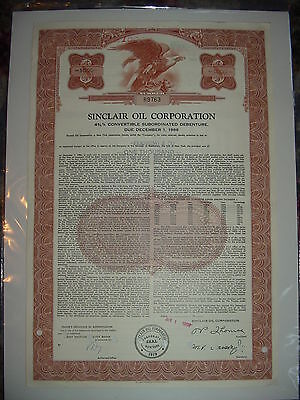 Sinclair Oil Corporation Bond Stock Certificate
