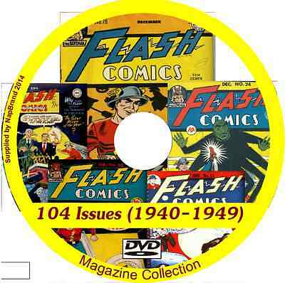 Flash Comics - 104 issues (1940-1949) on DVD