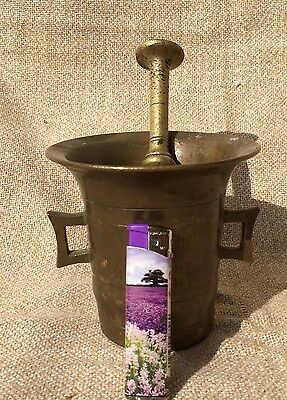 18th. Antique Transylvanian brass mortar and pestle