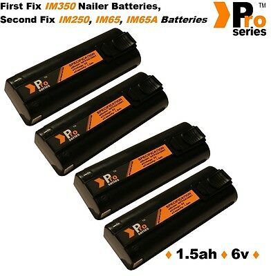 4 x replacement batteries 1.5ah pro-series for paslode im65/65A nailers