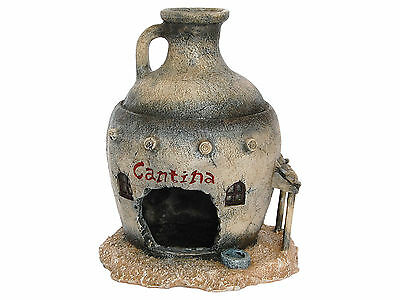 Aquarium Fish Cave Ornament Whisky Jar Western Cantina Decoration AQ950055