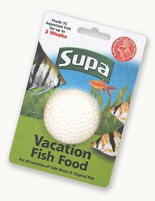 Supa Vacation 2 Week Holiday Fish Food Aquarium Block 25g (S210)