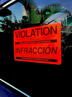 12 (USAs LOWEST PRICE!) ILLEGAL PARKING VIOLATION TOWING WARNING WINDOW STICKERS