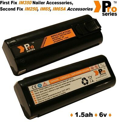 2 x  replacement batteries 1.5ah (pro-series) for paslode im350/350+/65