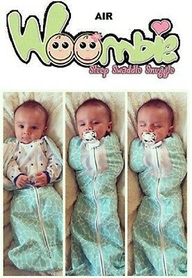 Customer-Returns- WOOMBIE AIR -Baby-Cocoon-Swaddle-Blanket-Choose-Size-Color