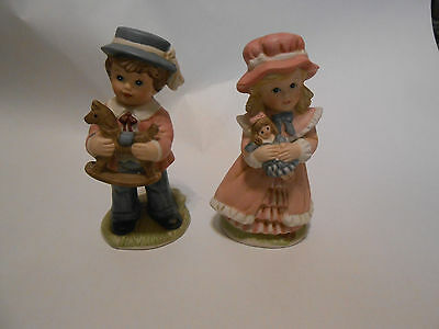 Home Interior Victorian Boy and Girl Porcelain Figurines