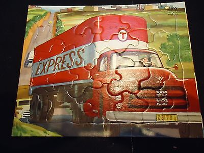 Vintage Sifo Puzzle of Express Delivery Truck - All pieces included