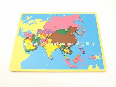 NEW Montessori Geography Family Set- Small Board Puzzle Map of Asia