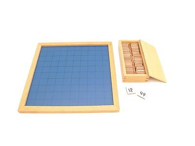 NEW Montessori Mathematics Material - Hundred Board with Tiles & Box