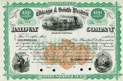 USA CHICAGO & SOUTH WESTERN RAILWAY COMPANY stock certificate