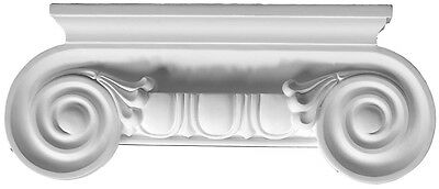 Fluted Capital top for Pilaster or column Primed White millwork molding D710A