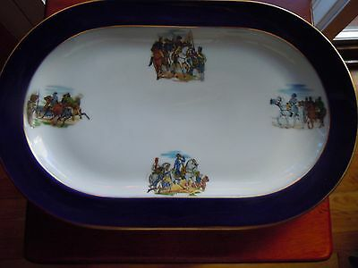Vintage H & Co Heinrich, Selb, Bavaria  Western Germany Hand Painted Platter