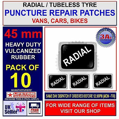 CAR TYRE RADIAL PUNCTURE REPAIR PATCH - 10 x 45mm PATCHES