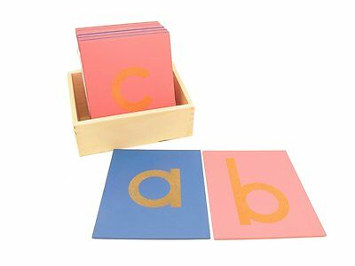 NEW Montessori Language Material - Sandpaper Letters Lower Case Print with Box