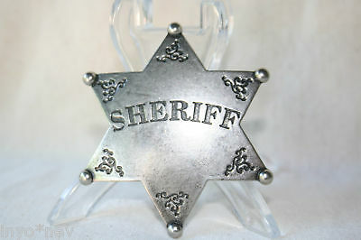 Sheriff Badge Replica Wild West Badge SOLID METAL Brand New 50014