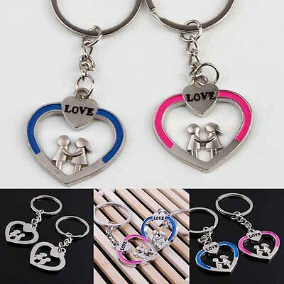 New Love Heart Key Ring Keyfob Couples Keychain Lover Valentine's Day Gift PV