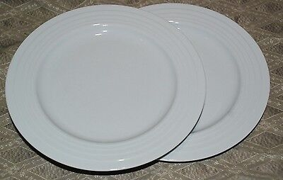 Porsgrund Norway SATURN White DINNER plate LOT OF 2 EUC  10 5/8""