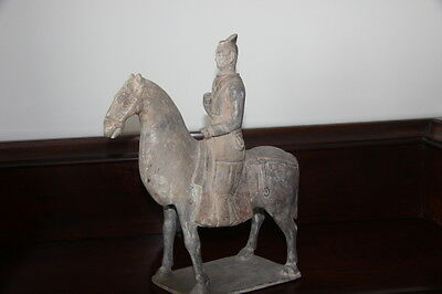 Exceptionally Rare Chinese Northern Qi Horse And Rider-600Ce