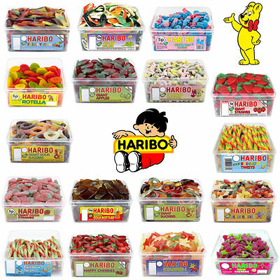 1 X Full Tub Haribo Sweets Candy Party Bag Wholesale Discount Treat Bag Sweet