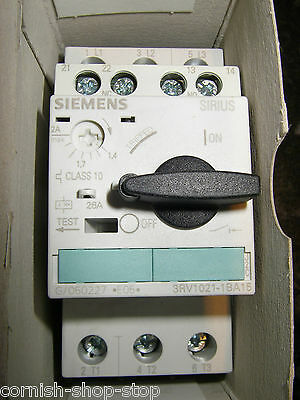 Siemens 3Rv1021-1Ba15 Manual Motor Starter/overload Protector...new, Old Stock