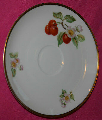 Hutschenreuther Selb L-H-S Bavaria Germany SAUCER~CHERRIES & PINK BLOSSOMS #15