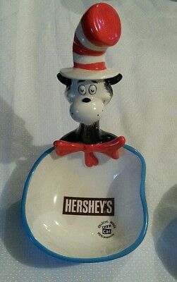 Hersheys Dr Seuss Cat In The Hat Ceramic Candy Dish Bowl, New in Box