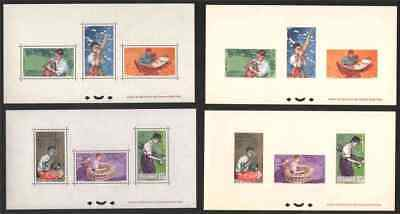 Laos 1957 Native Musicians set, two COLLECTIVE DELUXE SHEETS, on card and paper