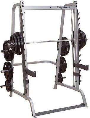 Body Solid GS348Q Series 7 Smith - Machine - Cage - Power - Rack - Bodysoild
