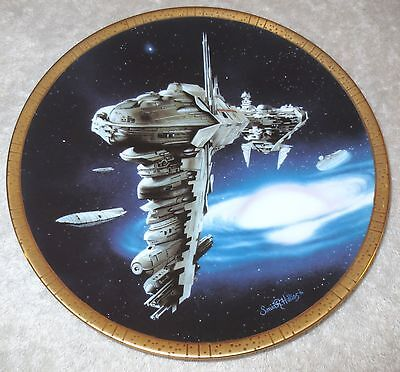 MEDICAL FRIGATE #d Plate STAR WARS SPACE VEHICLES Collection Hamilton