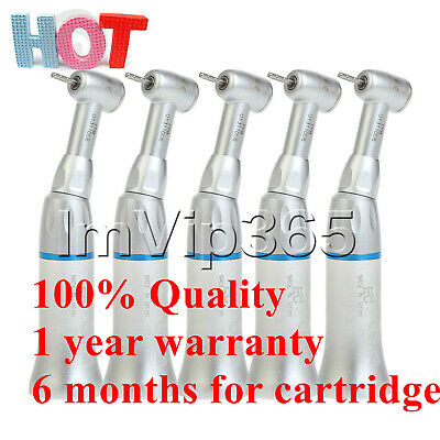5pcs 1.6mm Dental Low Slow Speed Contra Angle Push Button Handpiece E Type VIP