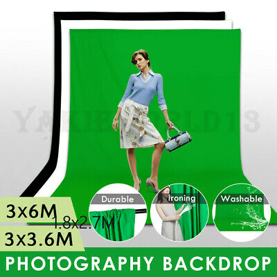 LARGE 3x3.6M Photography Studio Video Muslin Backdrop Photo Background Back Drop