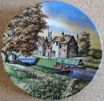 JOURNEY'S END THE ROMANCE OF THE WATERWAYS SERIES ROYAL WORCESTER 1990 8TH ISSUE