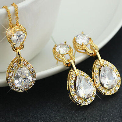 Multi-Color 18K Gold Filled Luxury African Elegant Jewelry Set