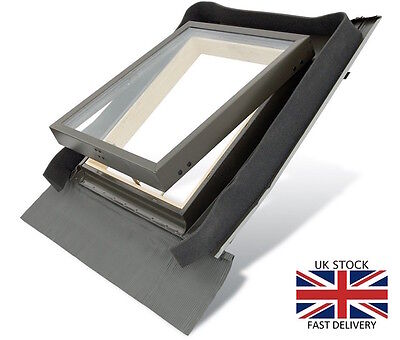 Fenstro Rooflite Double Glazed Skylight Access Roof Window 45x73 with flashing