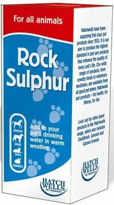Hatchwells Rock Sulphur for All Animals Keep Pets Cool Dogs Cats Horse Mammals
