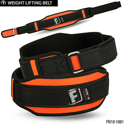 Weight Lifting Belt Fitness Gym Workout Neoprene Double Support Brace Orange