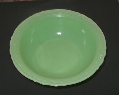 McKee Jade Green Depression Glass Bowl-Laurel