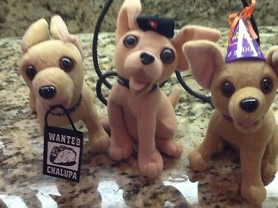 TACO BELL Talking CHIHUAHUA w/sound Chip All Work. Three!
