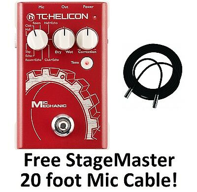 New TC-Helicon VoiceTone Mic Mechanic Vocal Reverb/Delay/Pitch Correction Pedal!