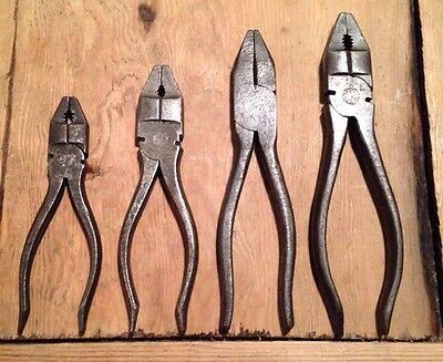 VINTAGE BRITISH MADE PLIERS   CLASSIC CAR TOOLKIT ROLL FILLERS GARAGE MECHANIC