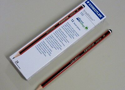 1 pack of 12 Staedtler tradtion 110 pencils 2B