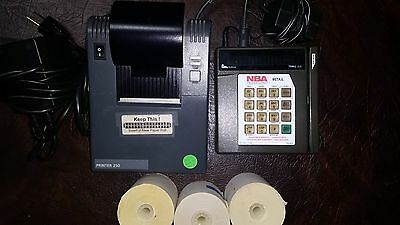 Verifone Trans 330 and Printer 250-Both Used with 6 rolls paper-FREE US SHIPPING