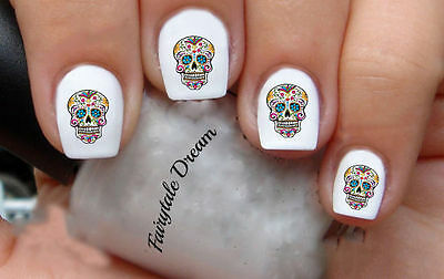 #1124 Skull 20 Water Slide Nail Art Transfer Decals stickers