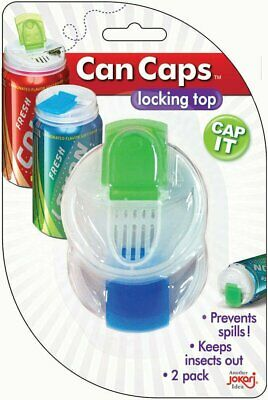 Jokari Can Caps - Lid Fits Beer & Soda Pop Cans - 2 PACK Beverage Top Covers