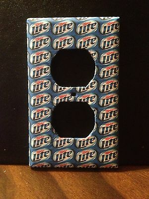 FREE SHIPPING Great Gift Perfect Man Cave Miller Lite Electrical Outlet Cover