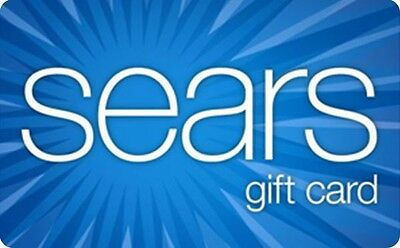 Sears Gift Card - $25 $50 or $100 - Email delivery