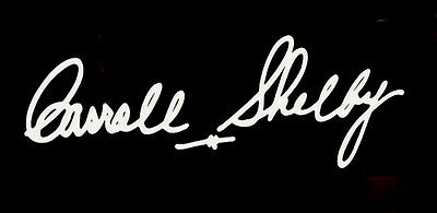 "Carroll Shelby Signature 4 - 4"" L x 1.38"" H Vinyl Decal Window Car"