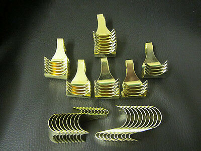 50 X Brass Picture Rail Moulding Hooks Brand New Steel Moulding Hooks Pictures