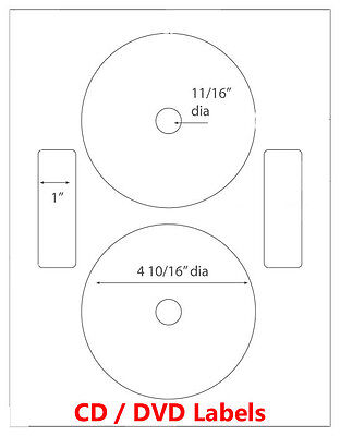 1000 Neato Compatible CD/ DVD Laser and Ink Jet Labels- Full Face!  500 Sheets